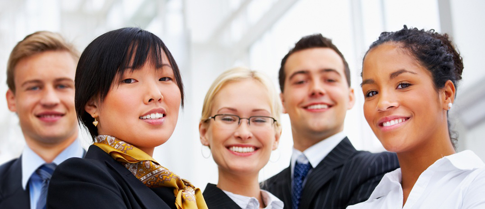Group of happy confident business team